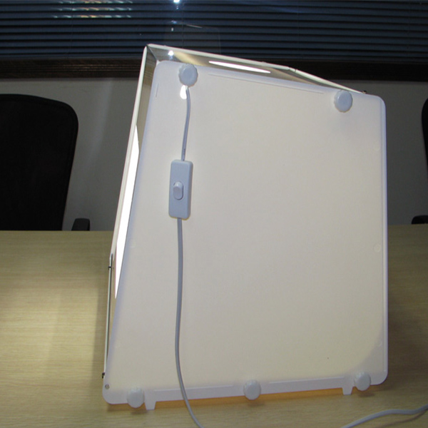 Mini 2pcs light strips Professional Portable ZMP-30 Mini Kit Photo Photography Studio led photo Light Box Softbox
