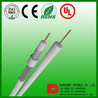 HOT sale low loss 18AWG coiled coaxial cable rg6 for TV