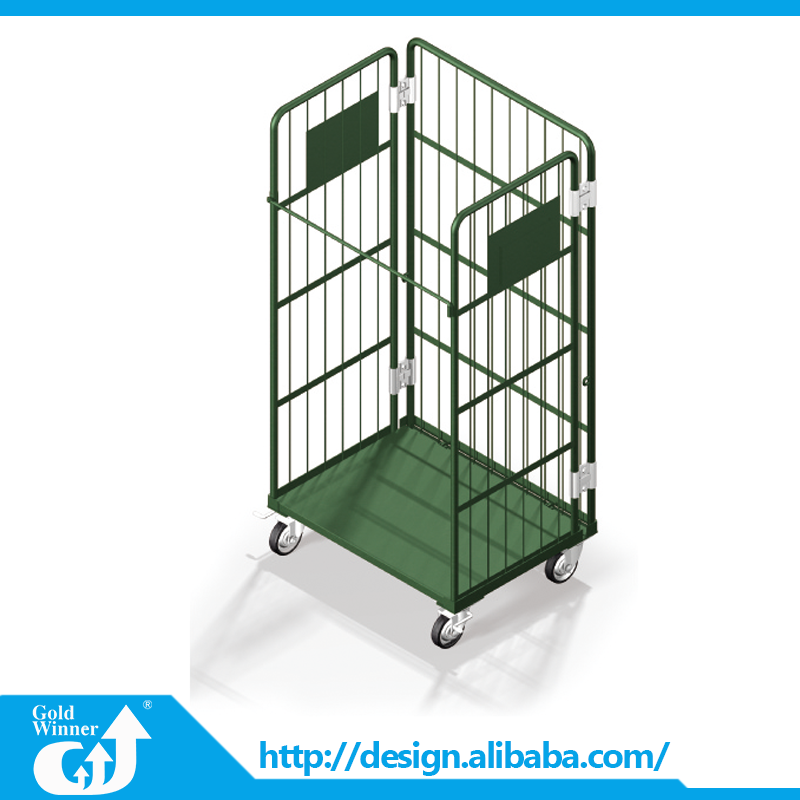 Top quality load capacity 500kg factory use foldable simple mesh hand trolley