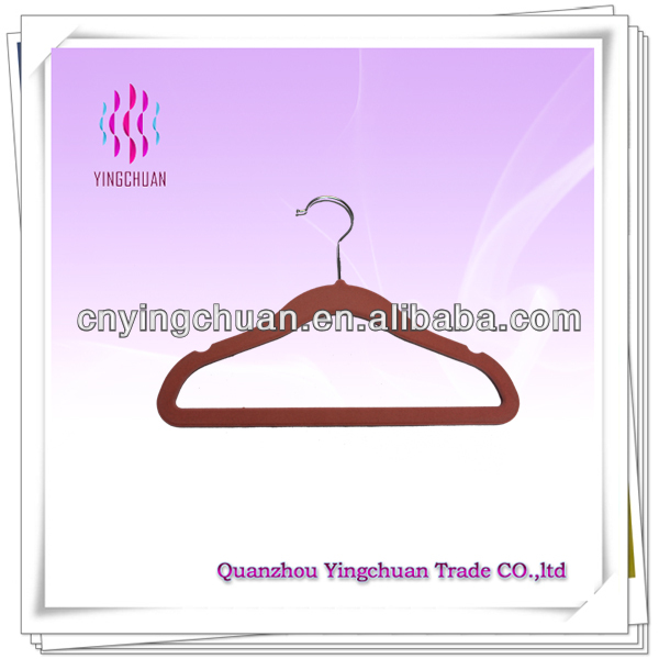 Fashion velvet flocked hangers