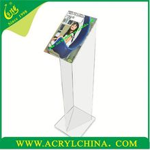 V shaped design acrylic floor display A4 portrait showroom & exhibition acrylic display