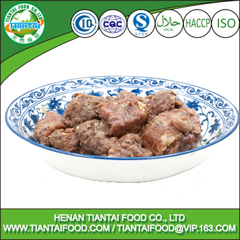 Canned Steamed Buffalo Cubes,Cooked Beef Meat Slices With Natural Juice