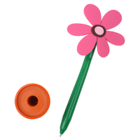 INTERWELL BP3403 Stationery Pen, Promotional Plastic Flower Top Ball Pen