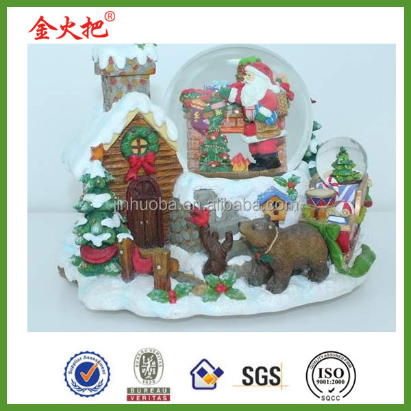 Resin Christmas decoration snow globes