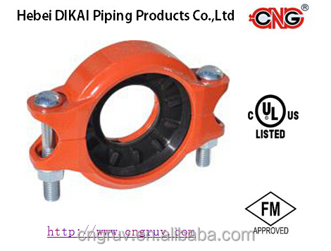 Ductile Iron Grooved Fittings Reducing Coupling FM/UL Approved