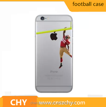 alibaba china American Football Player tpu transparent clear printed case cover for iphone 5 5s