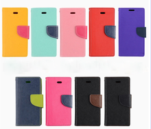 Wholesale phone case factory colorful Korea leather flip case for Samsung/iPhone