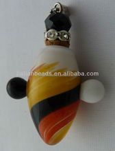 Wholesale Murano Glass Perfume Essential Oils Bottle art Pendant Crystal beads cork