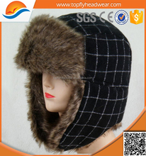 latest top sale earflap trapper winter hat with faux fur