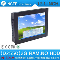 All-IN-One touchscreen LED Panel PC 12.1 Inch with COM Win.7 XP Intel Dual Core D2550 1.86Ghz