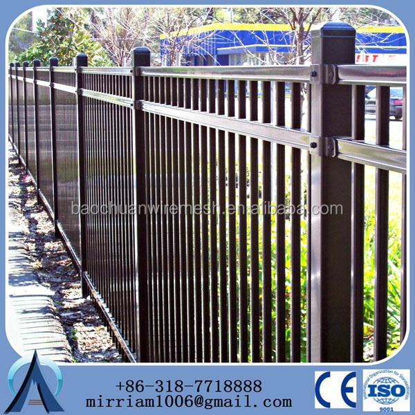 2015 outdoor decoracion nuevo desigh acero barato valla metlicacercas de hierro