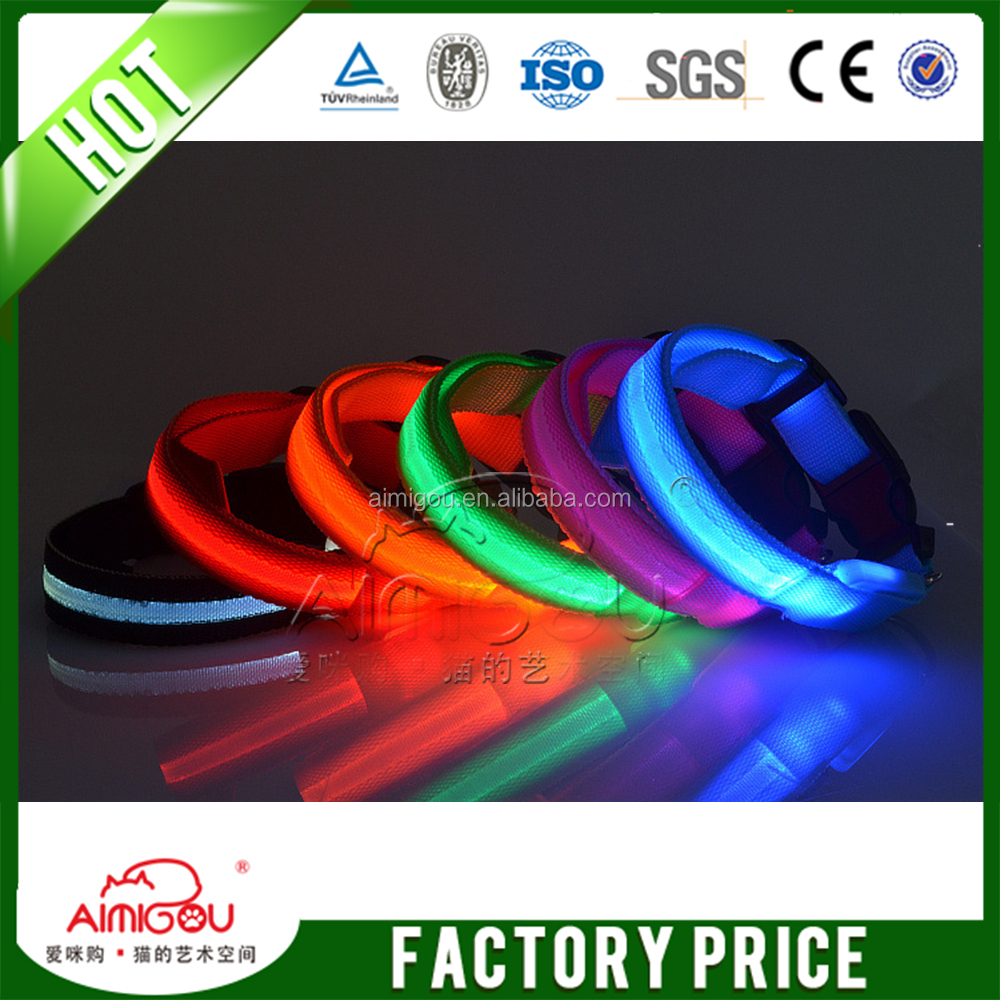 2015 new products light up pet accessories LED dog collar/led Dog Harness /led pet dog training collar