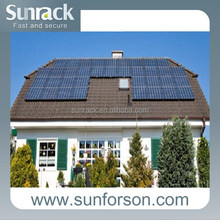 home slate roof off-grid solar mounting system