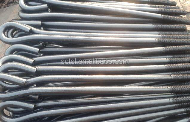 J type foundation bolt /foundation anchor bolt carbon steel /Q235