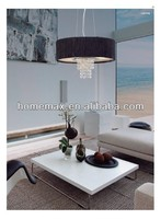 Fabric Pendant Lamp with Crystal
