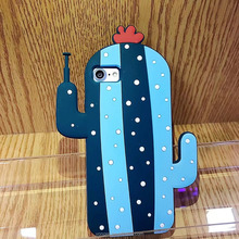 new product in 2017 robot cactus silicone case for iphone 7 ,silicone cactus robot case for iphone 7,2017 new silicone case