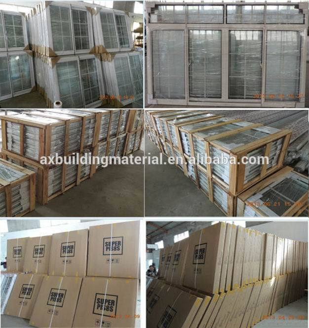 Tempered LOWE glass window,aluminium casement window