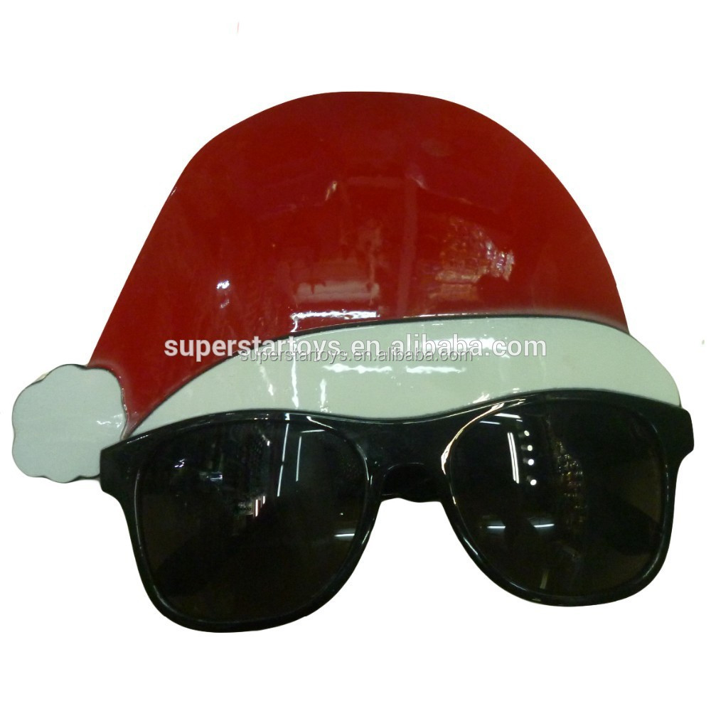 5141125-5 santa claus glasses/christmas hat glasses/Happy Christmas Party spectacles