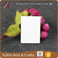 2016 hot sale blank sublimation rectangle Ceramic Fridge Magnet