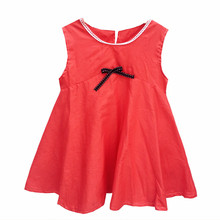 Dresses For Girls 2017 Girl Solid Sleeveless Kids Summer Cute For Baby Girl Toddler Child Clothes