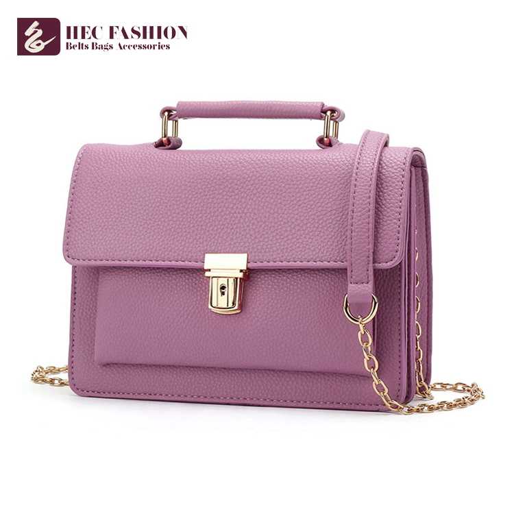 HEC Manufacturing Company Wholesale Elegant Leather Lady Shoulder Bag From China
