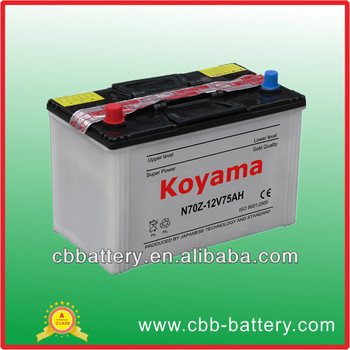 New china products for sale prostar 12V75Ah dry charged auto battery