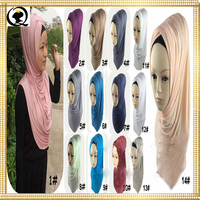 2017 Top sale Popular New Style Khimar Design Musilim Women Shawls Hat Jersey Hijab Scarf for Hot Sell