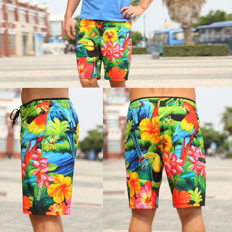 Plus size swimming beach pants men surfing board shorts