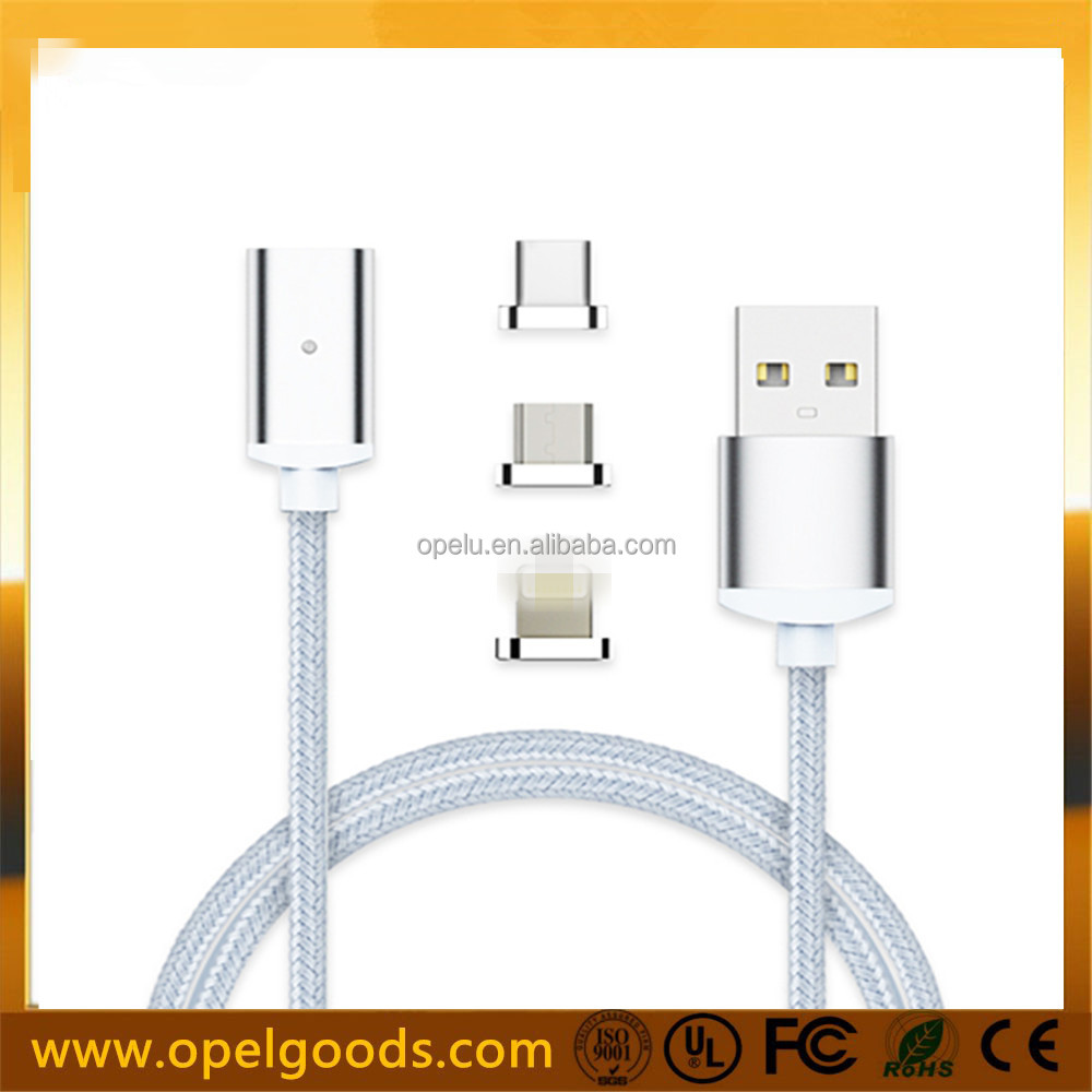 K02 3 In 1 Magnetic Charging Cable Type C Magnetic Micro Usb Cable Charger For Iphone