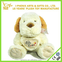 Floppy Lovely Heart Dog toy Stuffed Plush Heart Dog With Long Ears