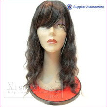 High quality long wave heat friendly synthetic silk mohawk wig