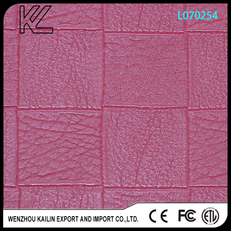L070254 pu embossed leather for lady shoes or bags upper artifical leather