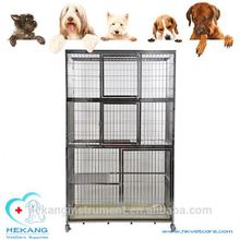 Animal vetcare equipment stainless steel three layer pet display cage