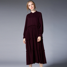 Hot Sale Spring Fashion Lady Casual Cotton Folds Dress Large Size