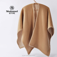 2016 new fashion thick wool poncho for woman