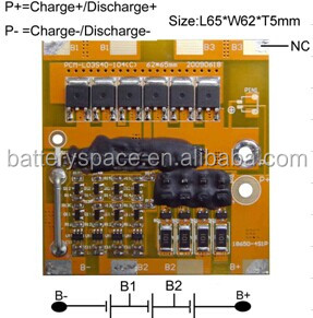 Protect Circuit Module For 9.6V LiFePO4 Battery Pack PCM-L03S40-104(C)(3S)