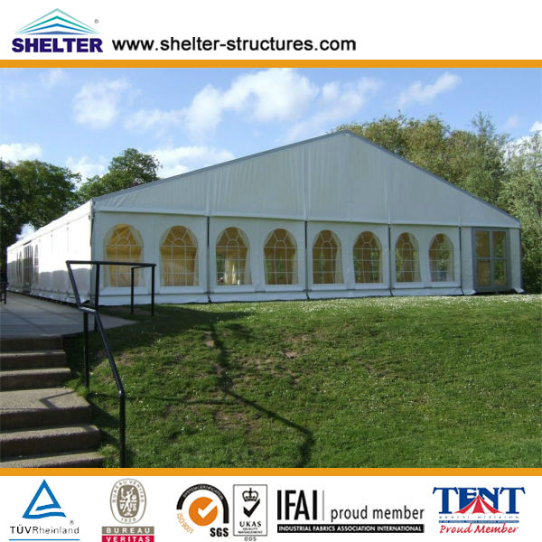 Event marquee tent clear windows 25x30m 500 persons