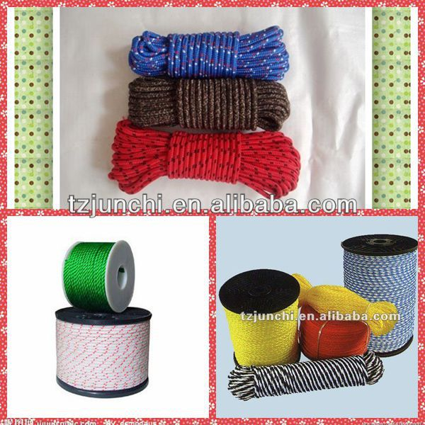Good quality PP/PE/Nylon 3-Strand twisted paper rope