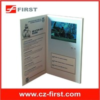 7 Inch TFT screen welcome cards with videos