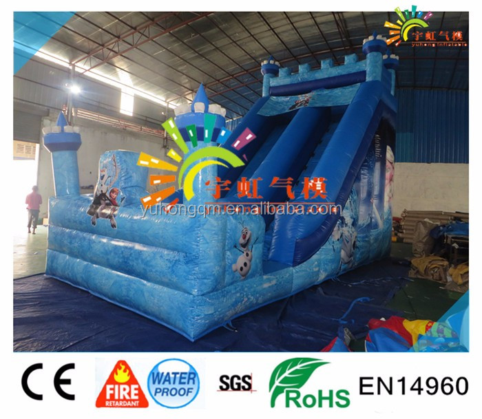 Children outdoor toys Frozen Princess Inflatable Slide ,New Designed Inflatable Frozen Slides for sale