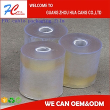 Transprent PVC film | soft PVC packaging film for cable protective