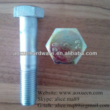 iron high grade galvanized hexagon head stud bolt fastener