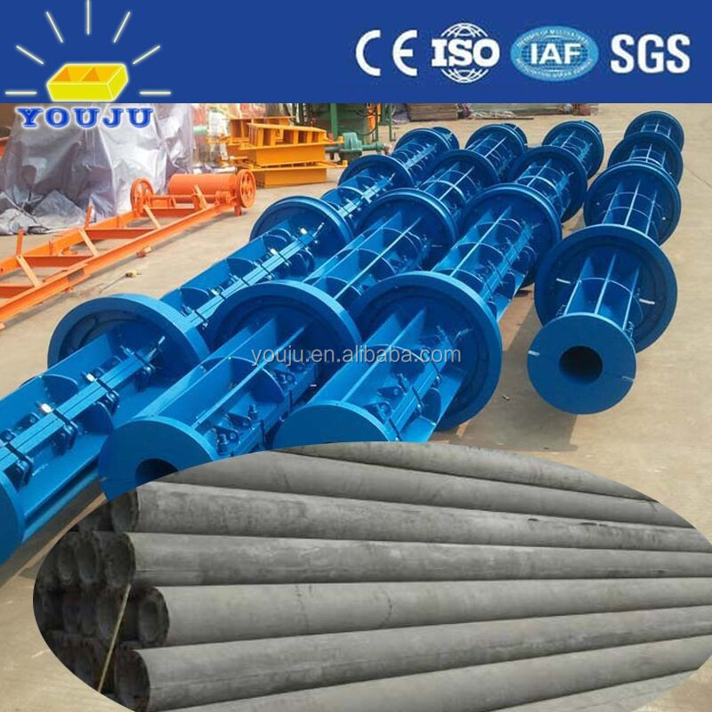prestressed non prestressed spun cast cement electric pole making machine with German Technology