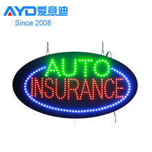 AUTO(White color) INSURANCE(Red color) Europe LED Light Box Provider