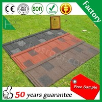 High Quality Roofing Tile Manufacturer / Mixed Color Stone Coated Roofing Shingles / Aluminum Zinc Steel