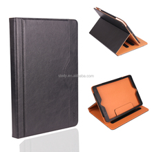 Factory Wholesale PU Leather Case with Stand for iPad 6 Flip Folio Cover for iPad Air 2 Black Smart Tablet Case for iPad 2