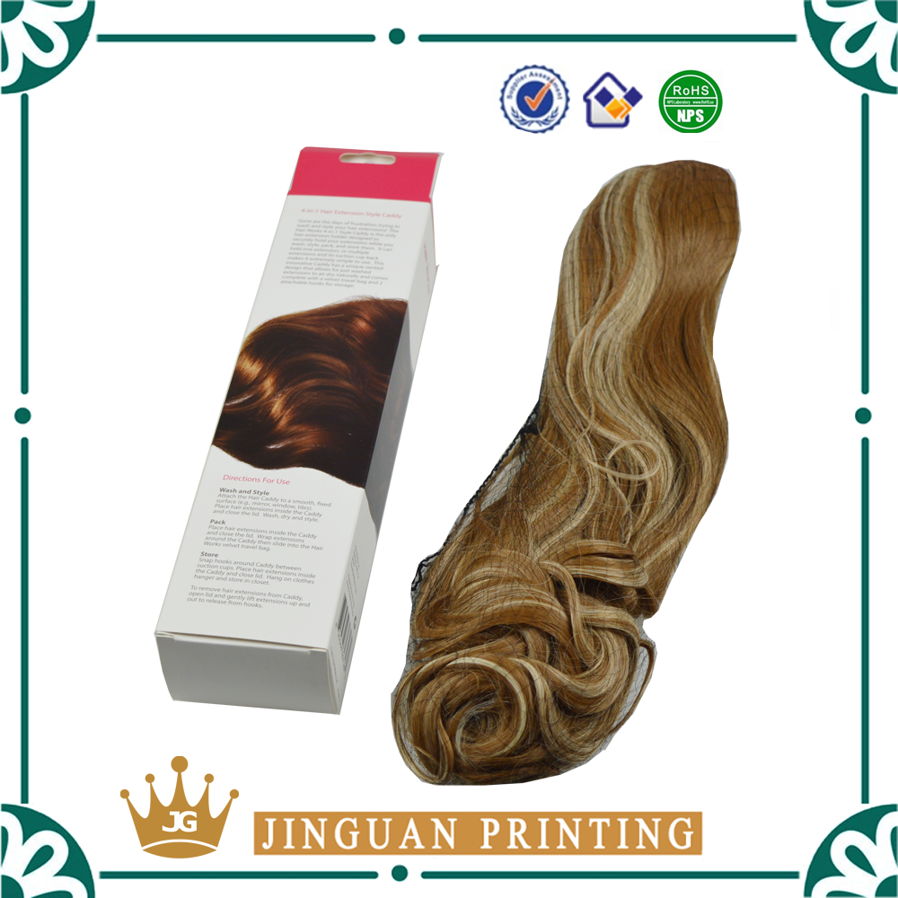 High quality professional custom printing luxury hair cardboard wig packaging boxes