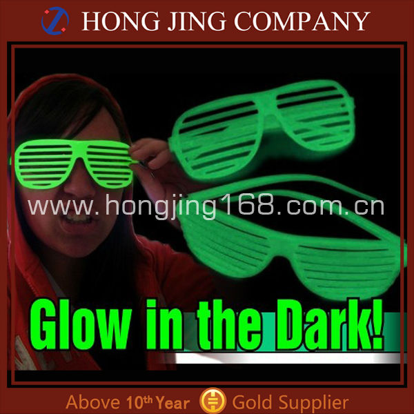 Glow in dark shutter shades sunglasses