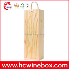 custom blank wooden wine boxes