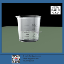 China Manufacture Wholesale 50ml disposable plastic measuring cup